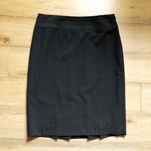 Classiques Entier Black Pinstripe Wool Blend Skirt